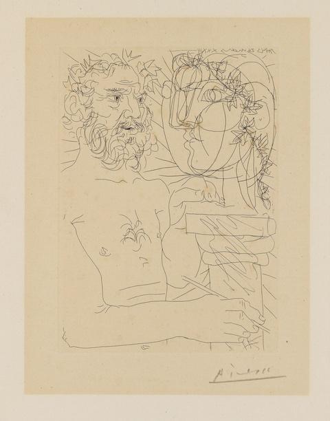 Pablo Picasso - Vieux Sculpteur au travail II