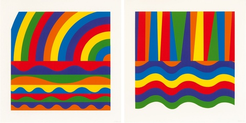 Sol LeWitt - Arc and Bands in Colors