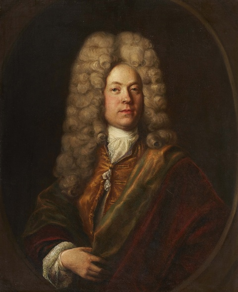 Hyacinthe Rigaud, circle of - Portrait of a Man in a Wig