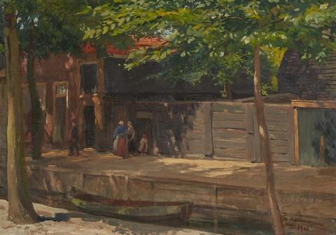 Friedrich Kallmorgen - An der Blanke in Havelberg