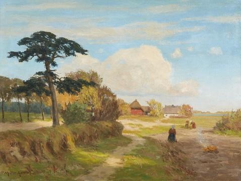Paul Müller-Kaempff - Landscape with Peasant Women at Work