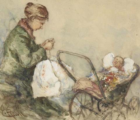 Carl Rüdell - Mother and Child