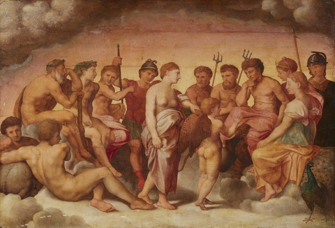Italienischer Meister des 16. Jahrhunderts - Götterversammlung