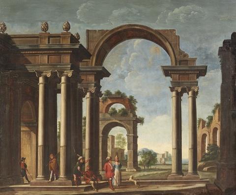 Italienischer Meister des 18. Jahrhunderts - Zwei Architekturcapriccios