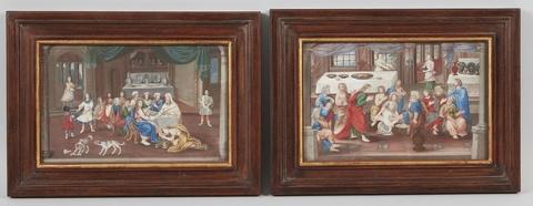 Wohl Deutscher Künstler des 19. Jahrhunderts - Maria Magdalena salbt die Füße Christi Die Fußwaschung