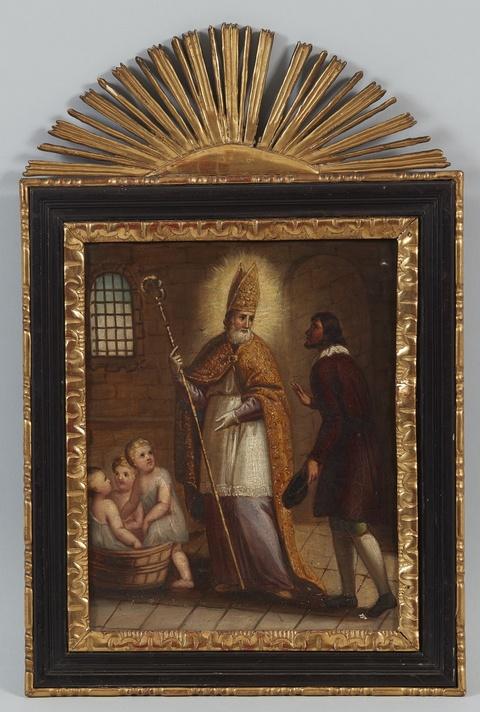 Deutscher Künstler des 19. Jahrhunderts - Der hl. Nikolaus erweckt drei Knaben zum Leben