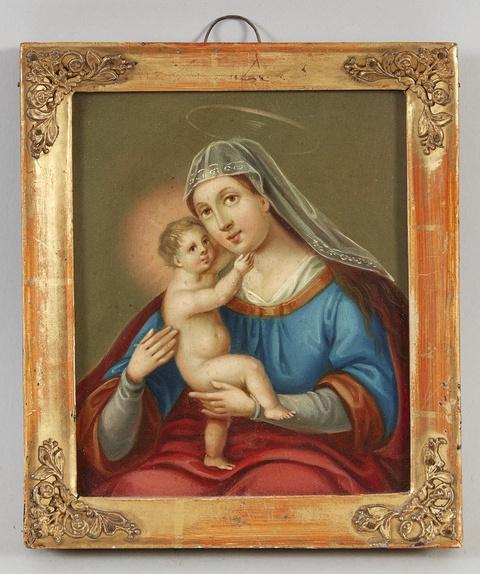 Deutscher Künstler des 19. Jahrhunderts - Madonna mit Kind
