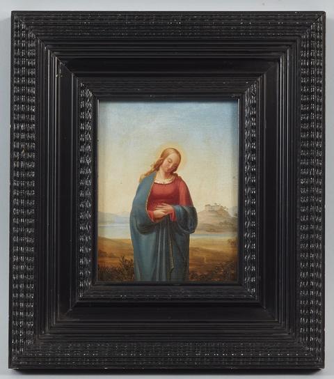 Deutscher Künstler des 19. Jahrhunderts - Jungfrau Maria vor weiter Landschaft