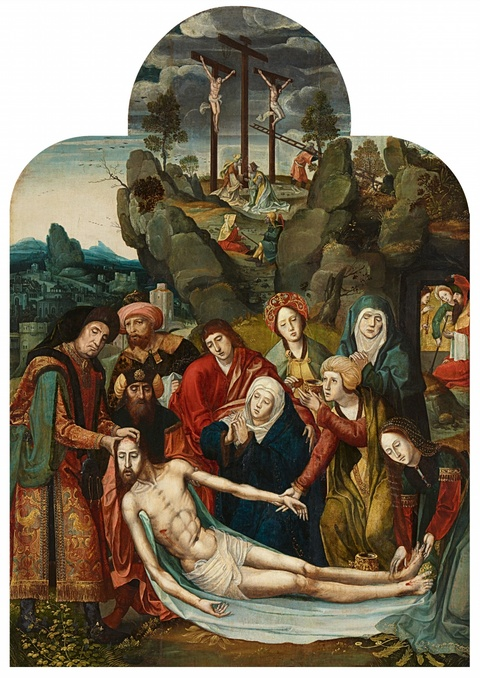 Netherlandish School circa 1520 - The Lamentation