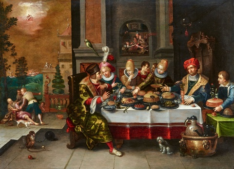 Frans Francken the Younger and studio - Lazarus and the Rich Man
