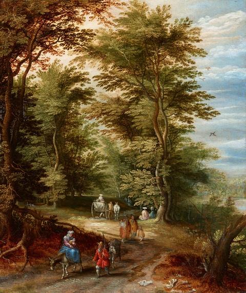 Jan Brueghel d. J. - Landschaft mit der Flucht nach Ägypten