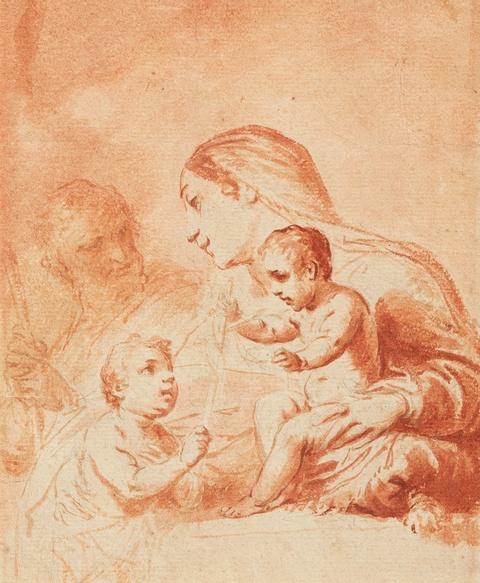 Bologneser Meister des 17. Jahrhunderts - Heilige Familie