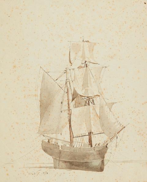 Friedrich Nerly - Segelschiff zu Wasser