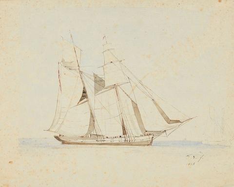 Friedrich Nerly - Segelschiff an Land