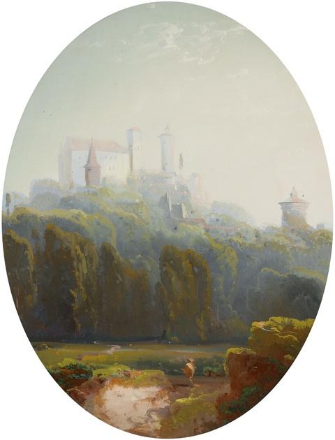 Peter Conrad Schreiber - Landschaft mit Burg