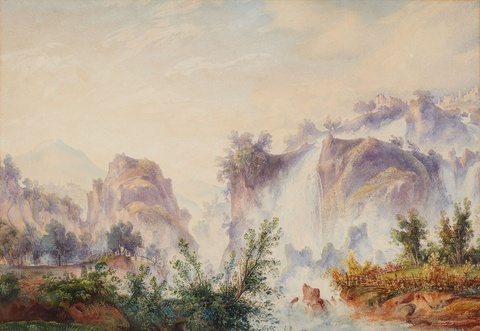 Edward Theodore Compton, attributed to - Two Landscapes near Tivoli