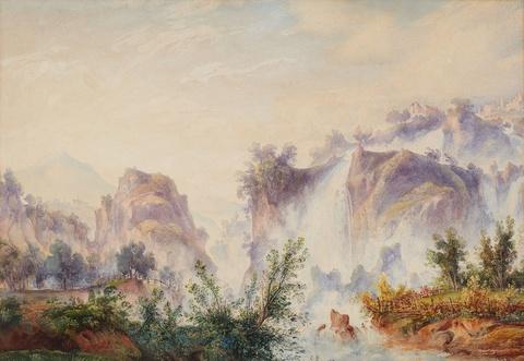 Edward Theodore Compton, zugeschrieben - Zwei Landschaften bei Tivoli