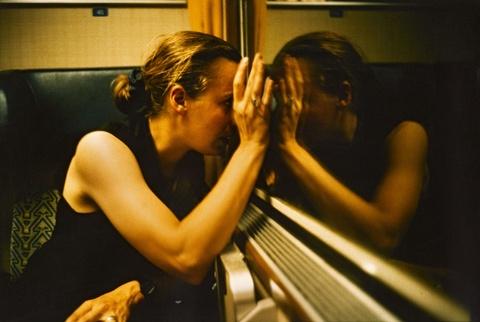 Nan Goldin - Christine on the train, Austria