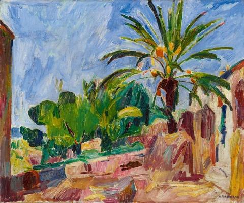 Hans Purrmann - Landschaft mit Palme