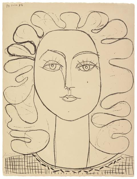 Pablo Picasso - Françoise aux cheveux ondulés