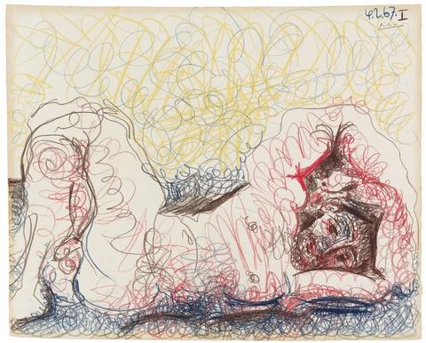 Pablo Picasso - Homme nu couché