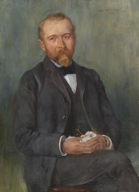 Lovis Corinth - Porträt des Direktors Schellinsky