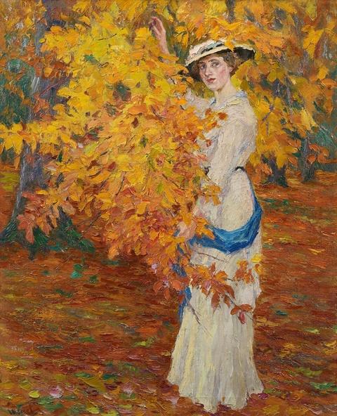 Edward Cucuel - Goldener Herbst