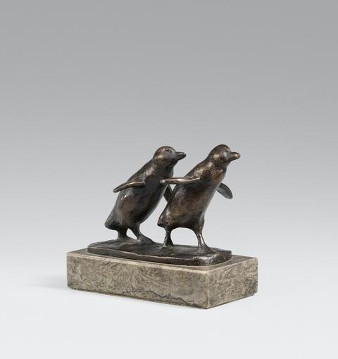 August Gaul - Zwei laufende Pinguine