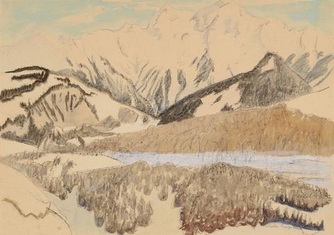 Erich Heckel - Helle Berge (Graubünden)