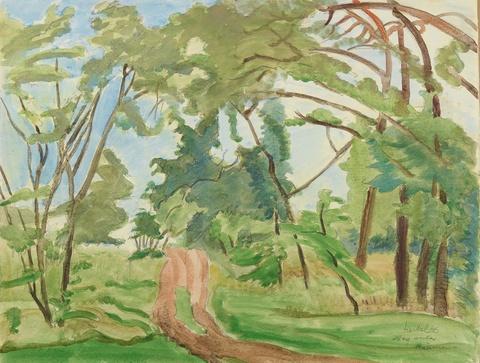 Erich Heckel - Weg unter Bäumen