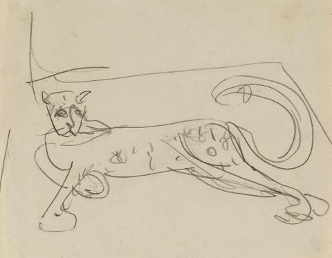 Ernst Ludwig Kirchner - Liegender Leopard