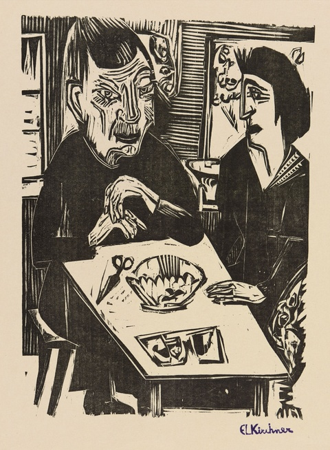 Ernst Ludwig Kirchner - Alte und junge Frau
