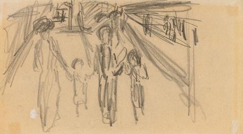 August Macke - Zwei Frauen mit zwei Kindern