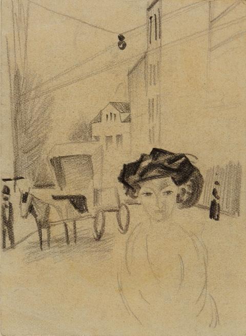 August Macke - Junge Frau auf der Strasse