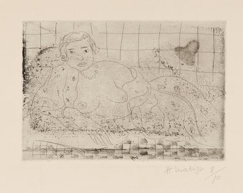 Henri Matisse - Nu couché, sol en damier