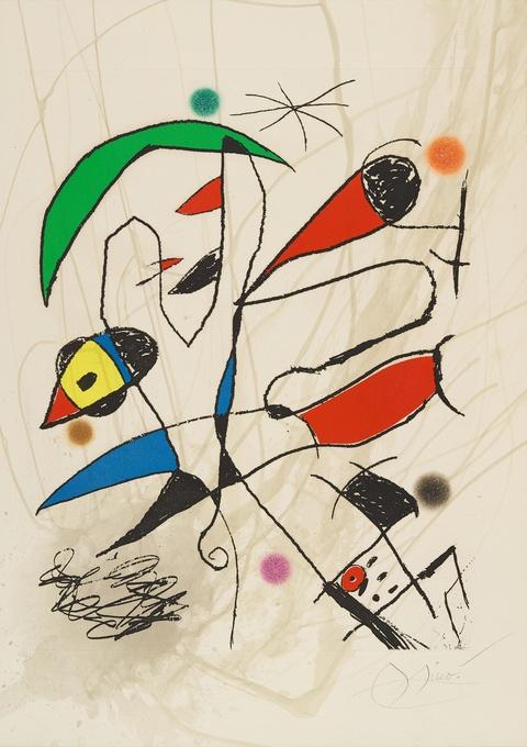 Joan Miró - L'Avaleur de sabre lune