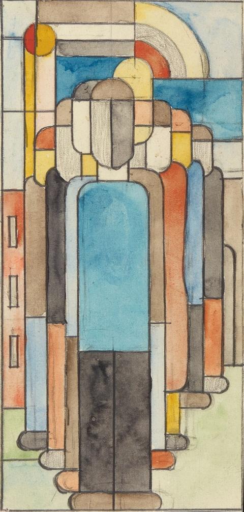 Franz Wilhelm Seiwert - Entwurf zu Glasfenster