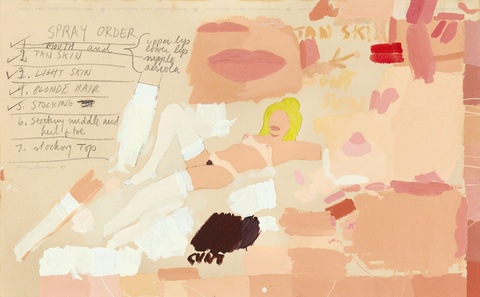 Tom Wesselmann - Paint Study for Great American Nude #82
