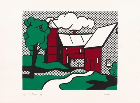 Roy Lichtenstein - Red Barn