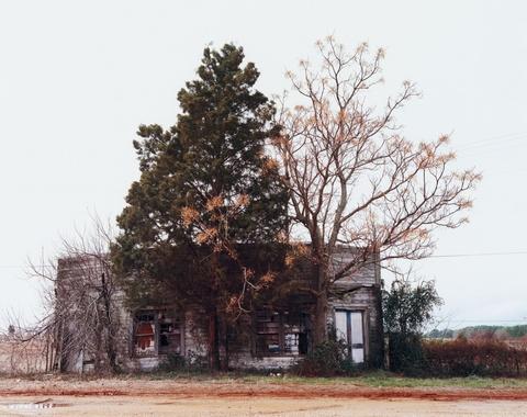 William Christenberry - Palmist Building (Winter), Havana Junction, Alabama