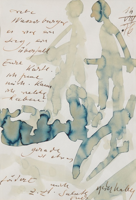 H.A.P Grieshaber - Untitled (Artist's letter)