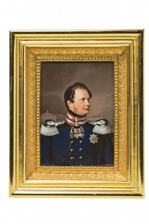 Porzellanbild mit Porträt König Friedrich Wilhelm IV. -