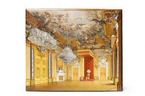 Porzellanbild mit Ansicht des Rittersaals -