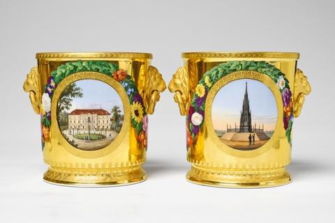 Paar Flaschenkühler aus dem Hochzeitsservice für Prinzessin Luise -