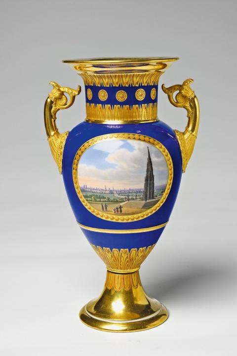 Kleine Vase mit Berliner Ansichten -