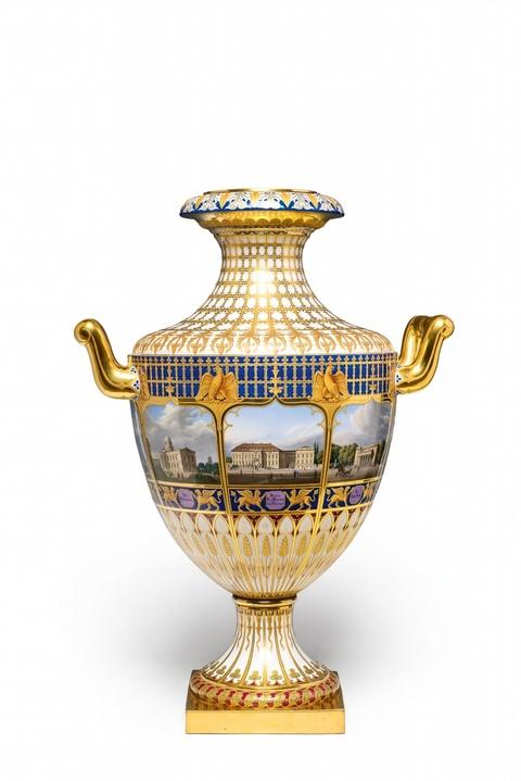 Vase mit acht Ansichten von Berlin -