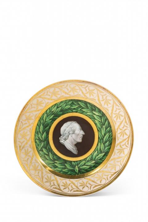 Teller mit Kameenbildnis König Friedrichs II. -