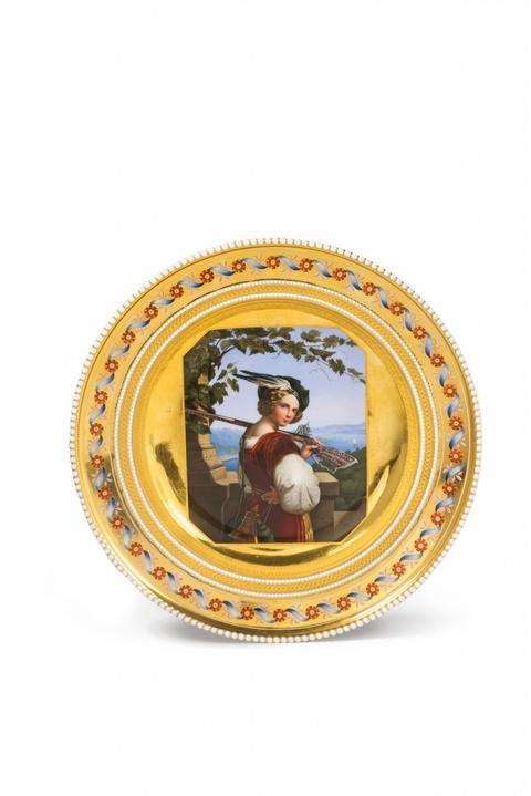 Paar Teller aus dem Patenservice für Friedrich Franz von Mecklenburg-Schwerin -