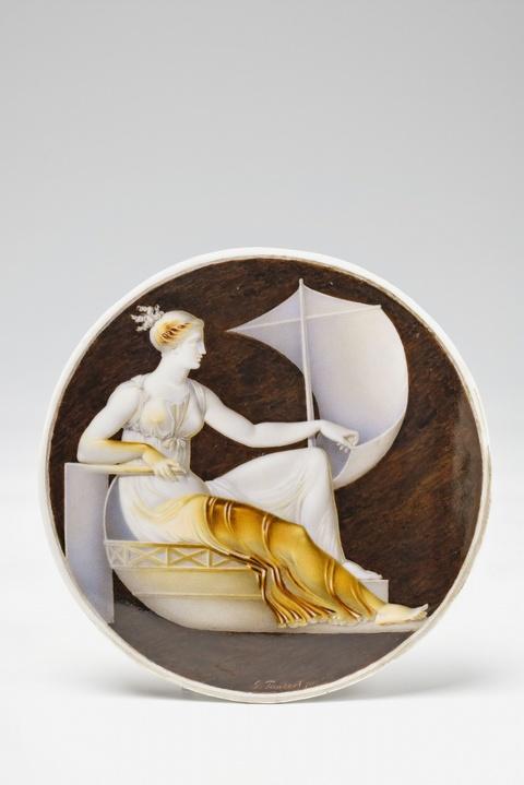 Tondo mit Fortuna conservatrix in Kameenmalerei -