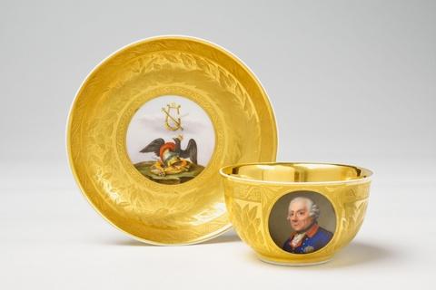 Tasse mit Bildnis König Friedrich II. -